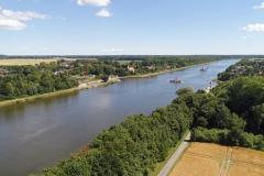 Blick über den Nord-Ostsee-Kanal